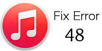 Fix iTunes error 48