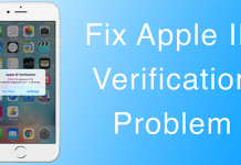 apple verification error