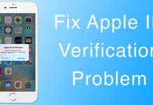 apple verification error