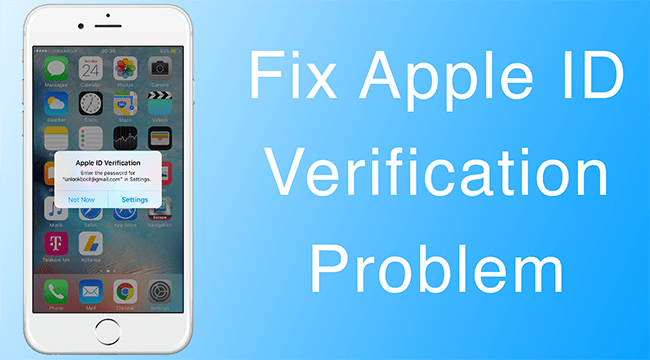 Apple ID Verification Error