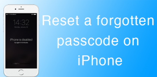 reset iphone passcode