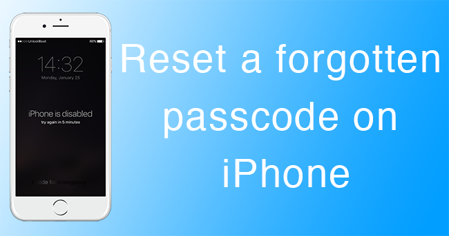 forgot passcode to iphone