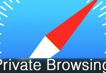 turn off private browsing on iphone