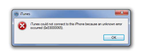 itunes could not connect to this iphone how to fix itunes error 0xe8000065 when connect iphone 20504