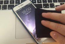 clean iphone screen