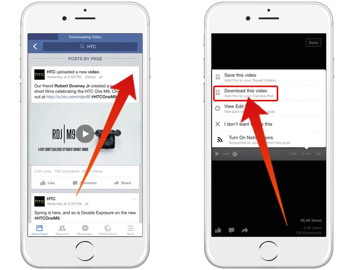 download facebook videos to iphone