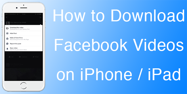 download facebook video on iphone