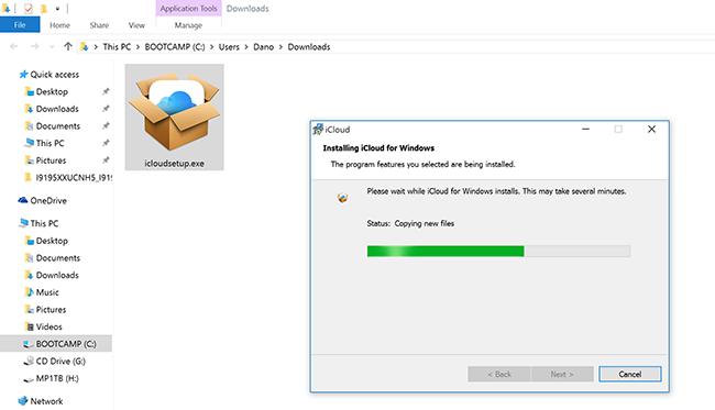 Install iCloud Windows 10