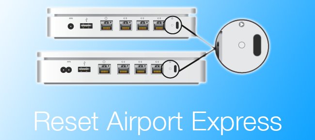 reset airport express