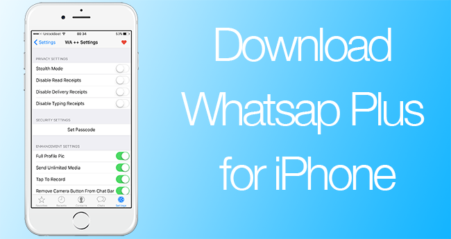install whatsapp++ on iphone