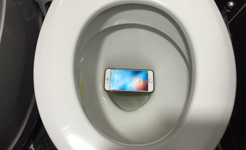 dropped iPhone in toilet