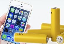 yellow battery iphone