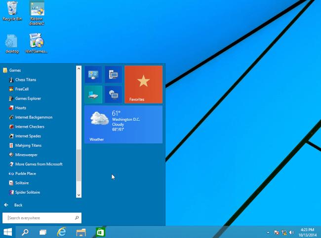 Windows 7 Games on Windows 10