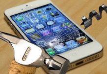 destroy iphone