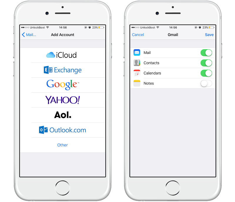Upload iPhone Contacts to Gmail