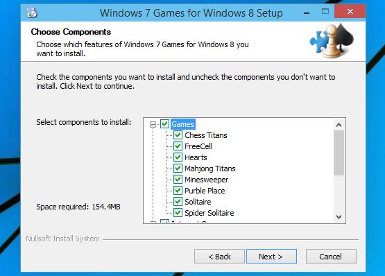 Install Windows 7 games on Windows 10