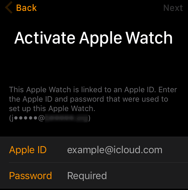 Enable Activation Lock on Apple Watch