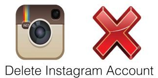 delete instagram account on iphone
