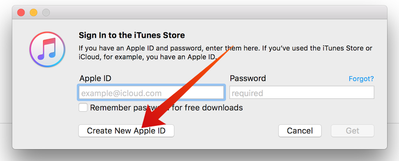 create free apple id