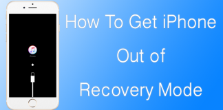 get iphone out of recovery mode