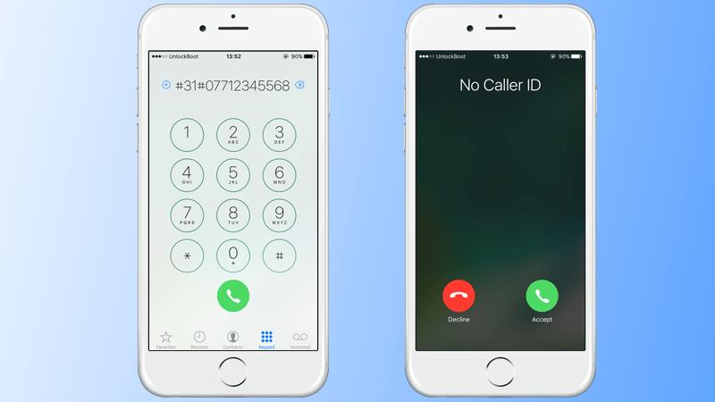 hide iPhone caller id