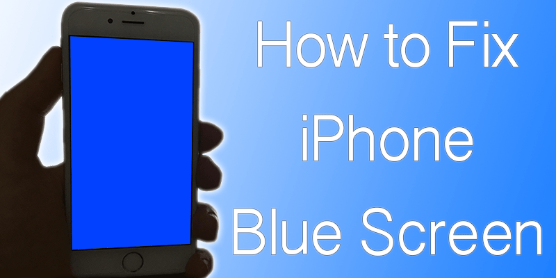 iphone blue screen fix