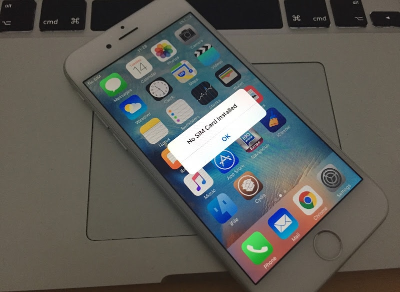 iphone says no sim card fix no sim card installed error on iphone 6 7 6s se 5s 5 6729
