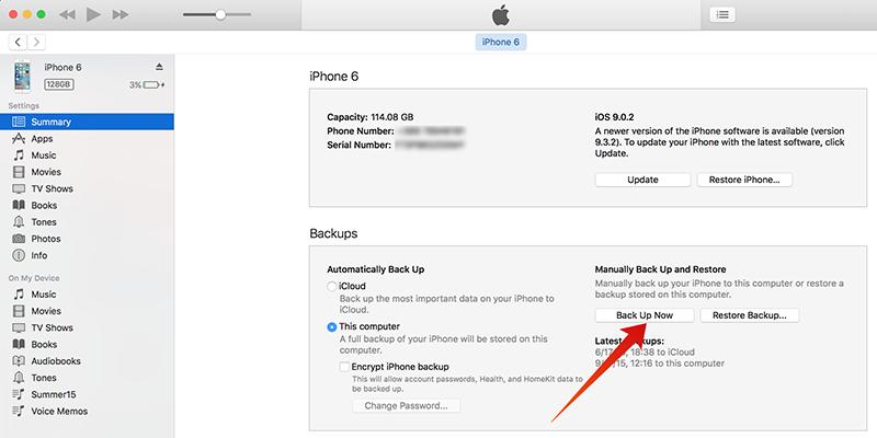 iOS 10 Public Beta Back up