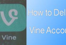 delete vine account