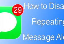 disable repeating message alerts