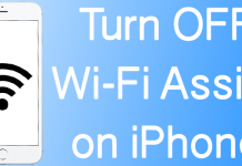 disable wifi assist