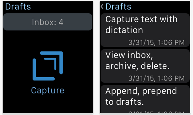 Drafts 4 Apple Watch app