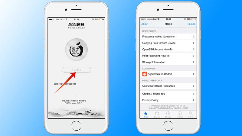 Install Cydia iOS 9.3.3