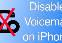 disable voicemail ios
