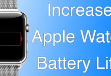 increase apple watch battery