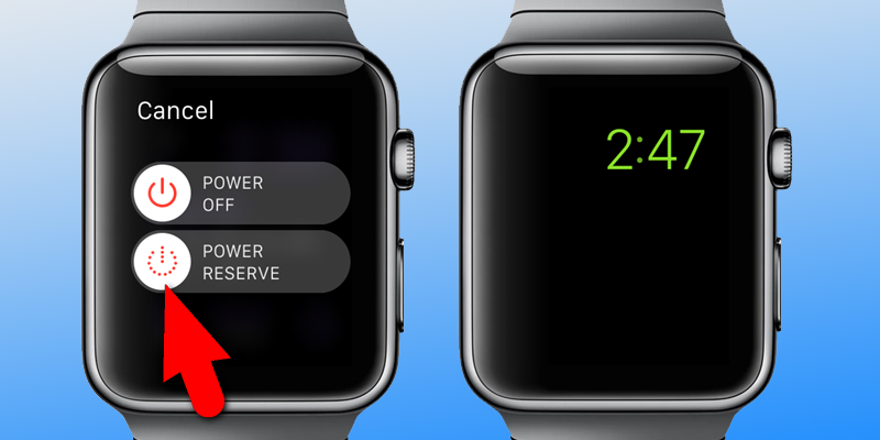 Enable Power Reserve on Apple Watch