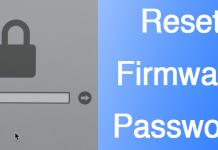 reset firmware password mac