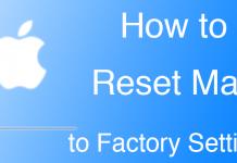 reset mac macbook