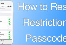 reset restriction iphone