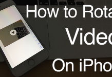 rotate video iphone