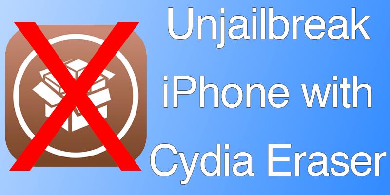 How to Unjailbreak iPhone