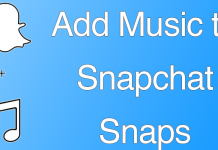 add music to snapchat