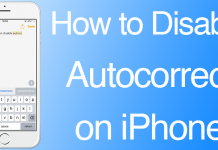 disable autocorrect ios