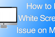 fix white screen mac