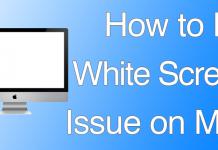 fix white screen mac