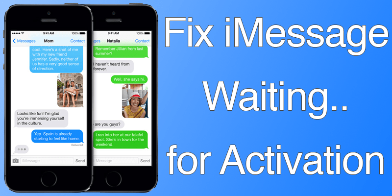 facetime waiting for activation iphone 7