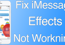 imessage effects fix