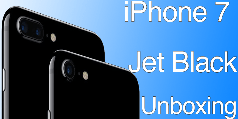 The First Iphone 7 Jet Black Unboxing