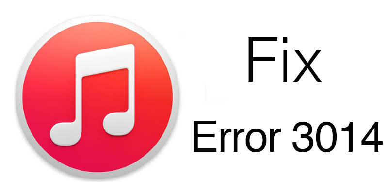 Itunes error 3014 updating
