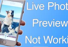 live photo previews fix